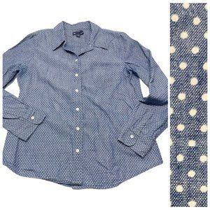 • GAP Chambray Polka Dot Boyfriend Fit Shirt H11